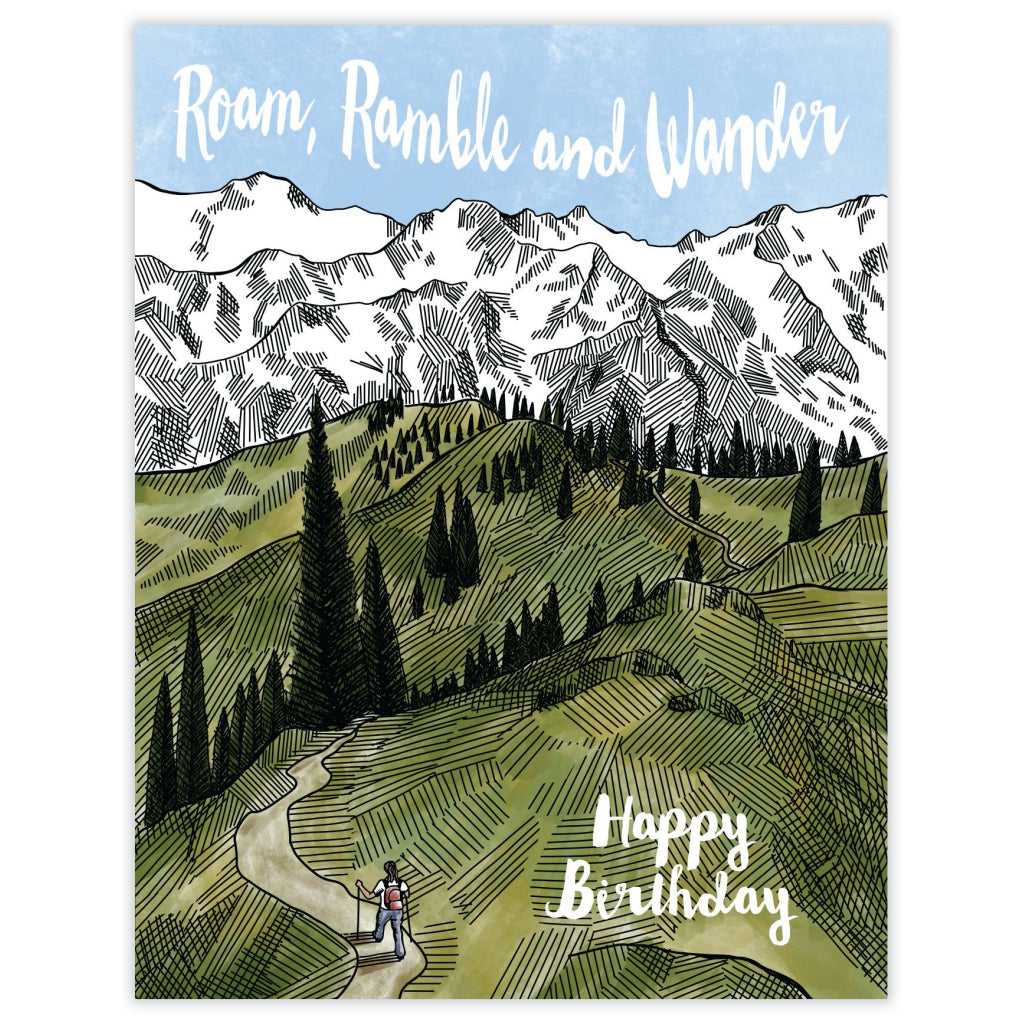 Roam Ramble Wander Card