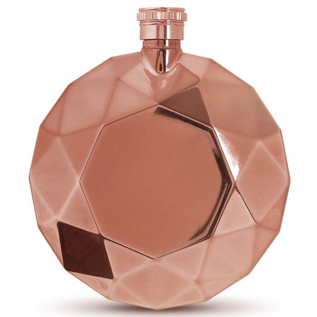 Rose Gold Round Gem Flask