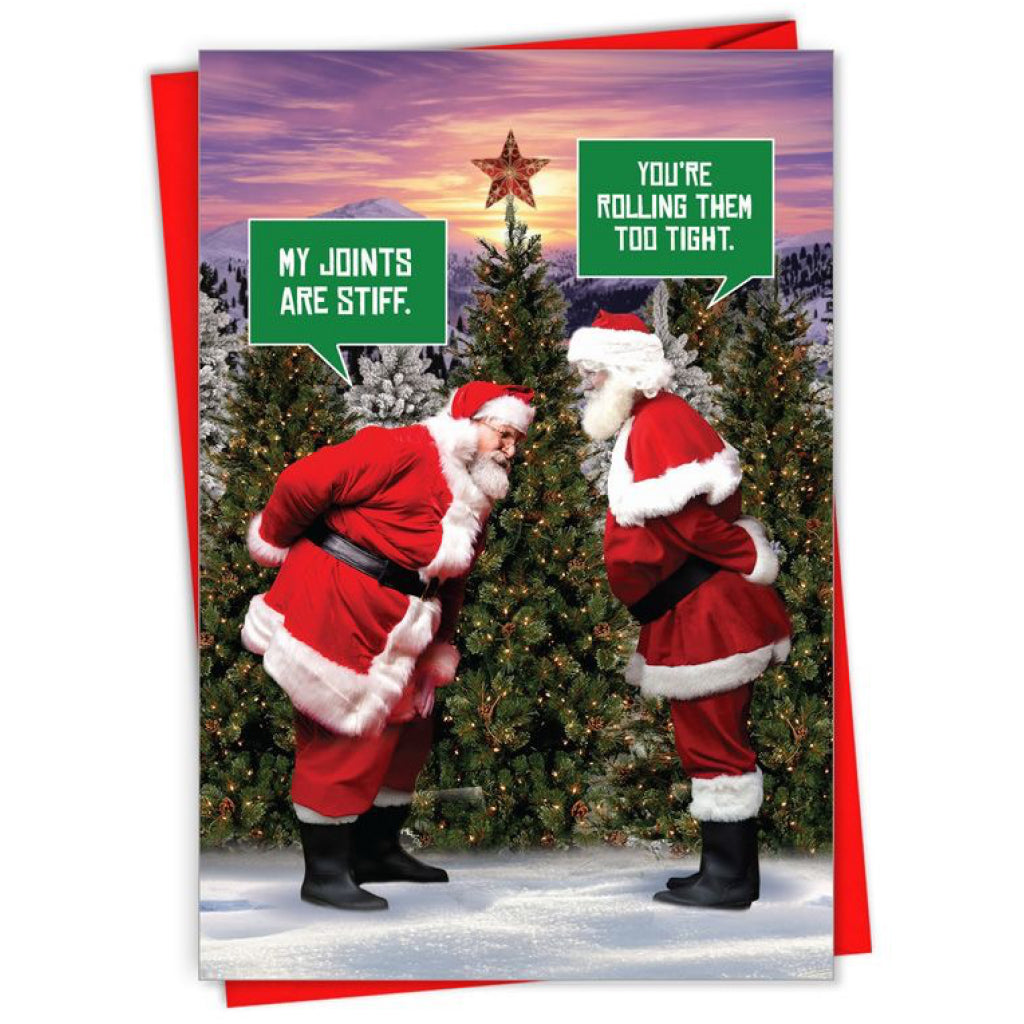 Santa's Joints Are Stiff Card