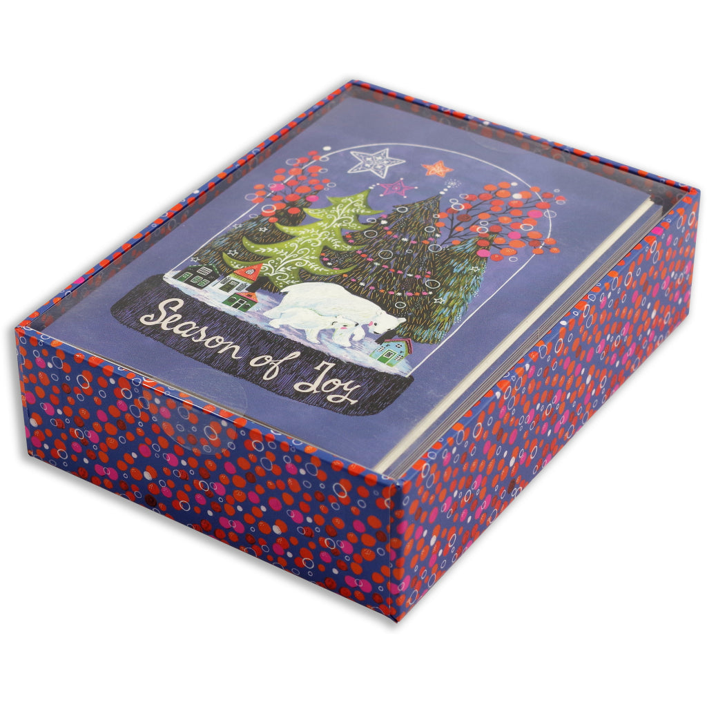 Packaging of Season Of Joy Boxed Holiday Cards.