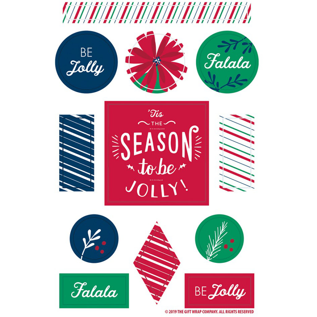 Season To Be! Boxed Christmas Cards Stickers