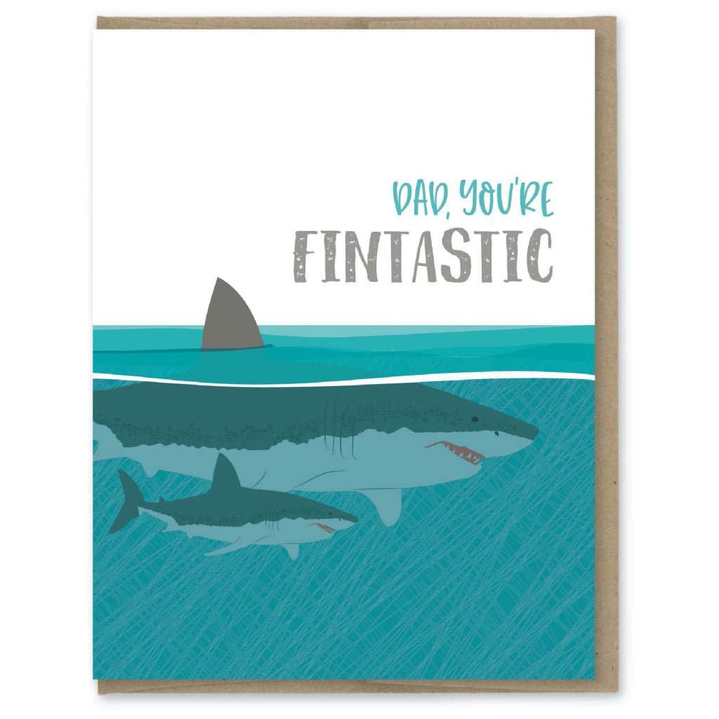 Sharks Fintastic Dad Card