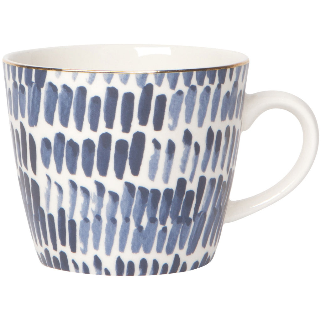 Shibori Dash Stamped Mug 12oz