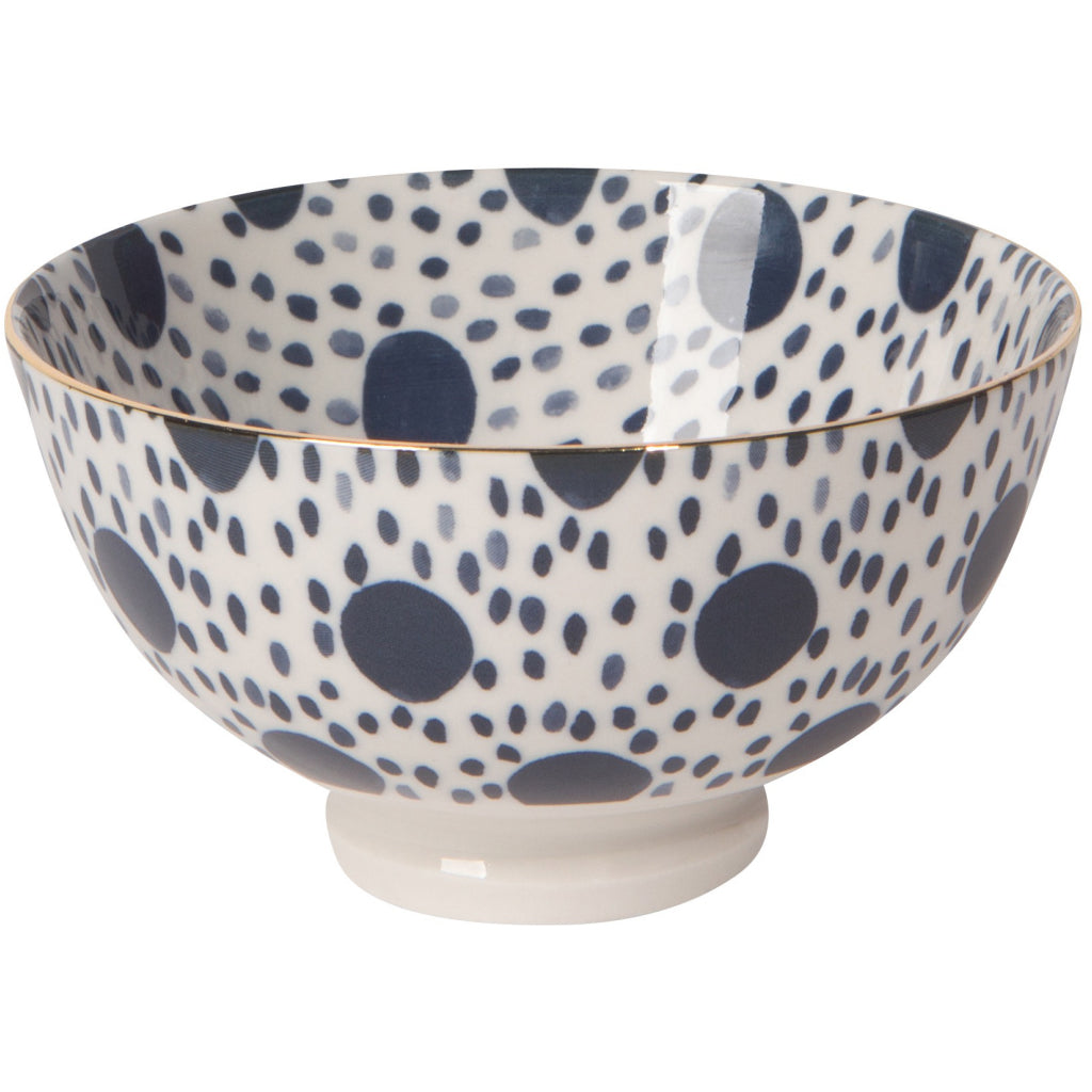 Shibori Dot Stamped Bowl 4 Inch