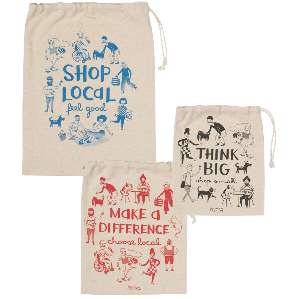 Shop Local Produce Bags Set Of 3