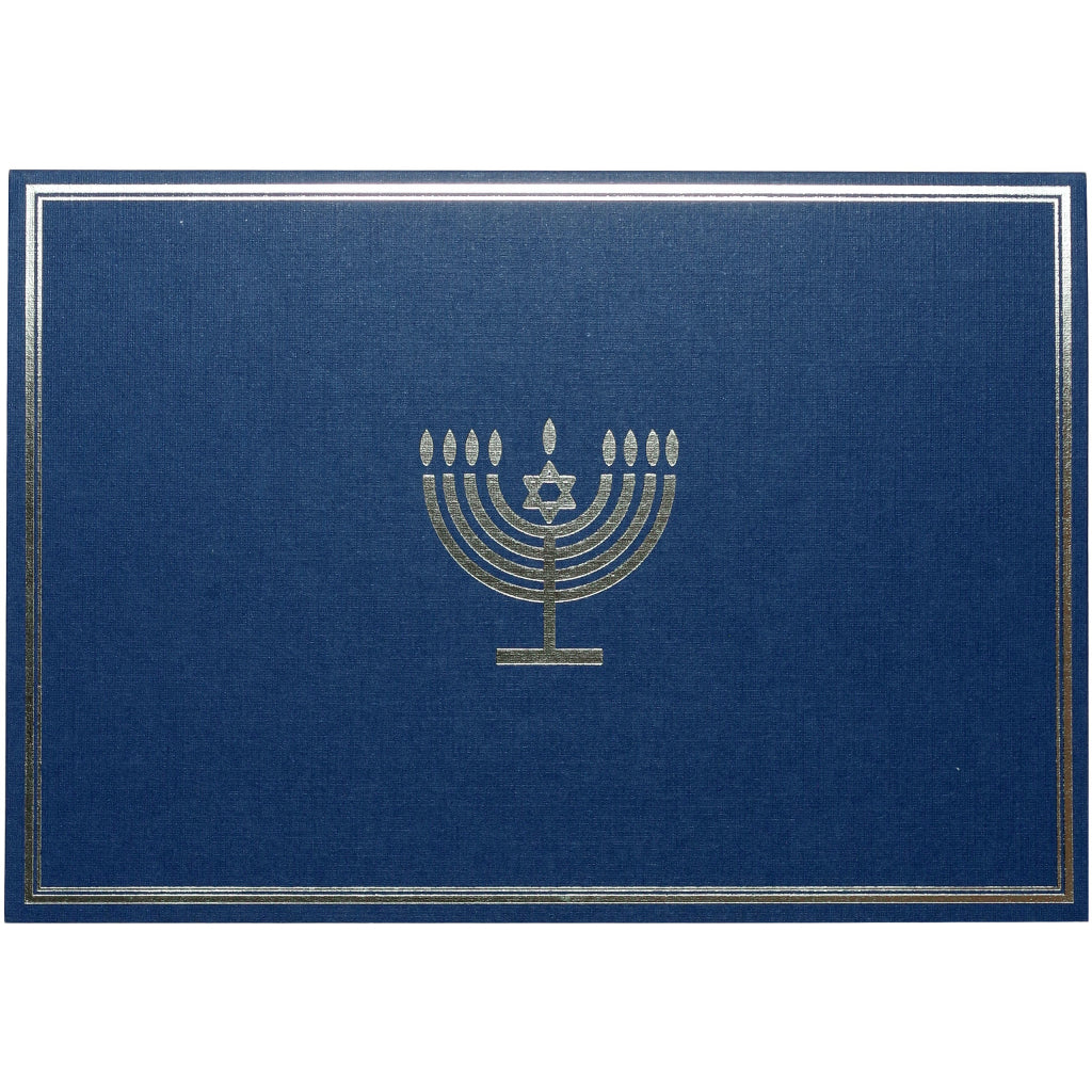 Silver Menorah Chanukah Boxed Cards