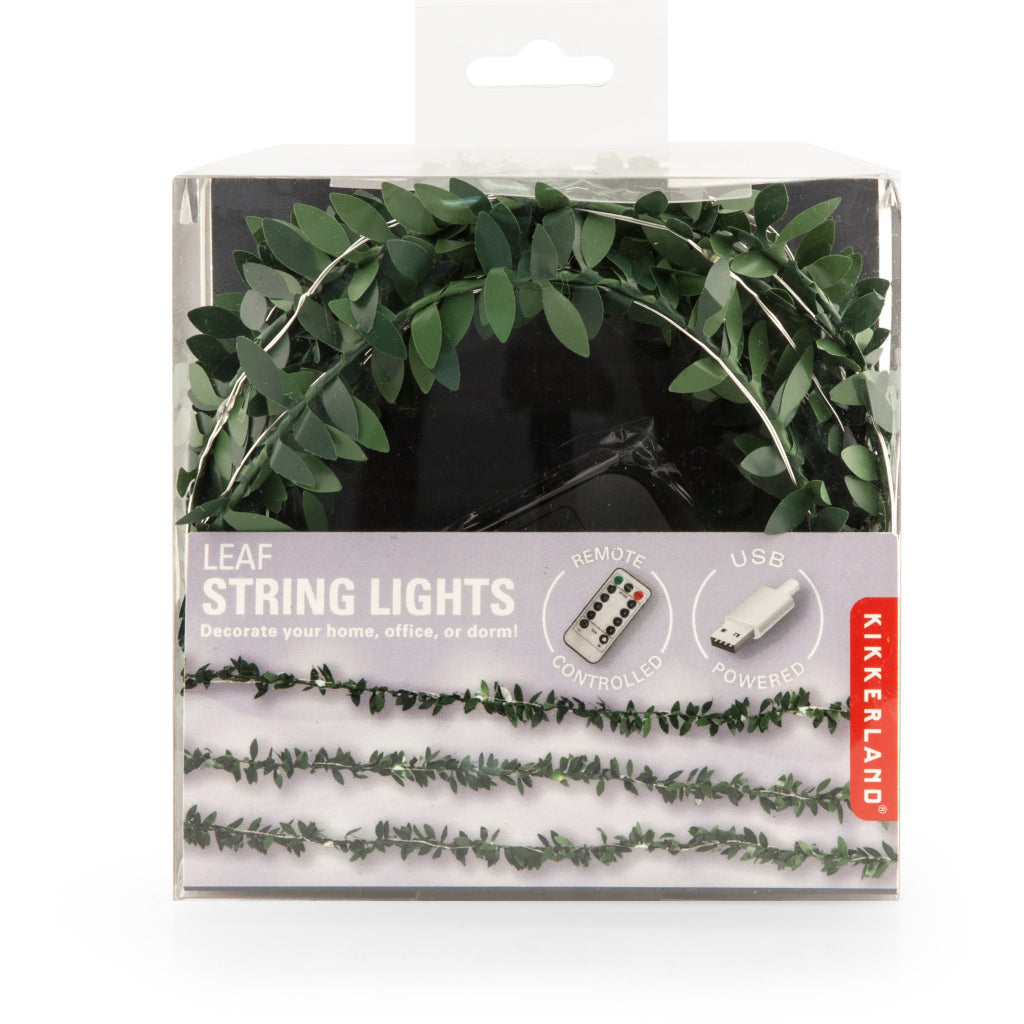 Packaging of Small Leaf String Lights.