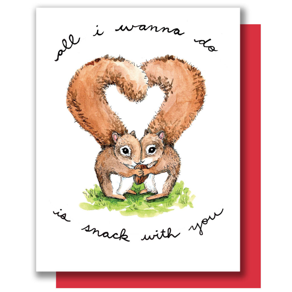 Snack With You Squirrels Card