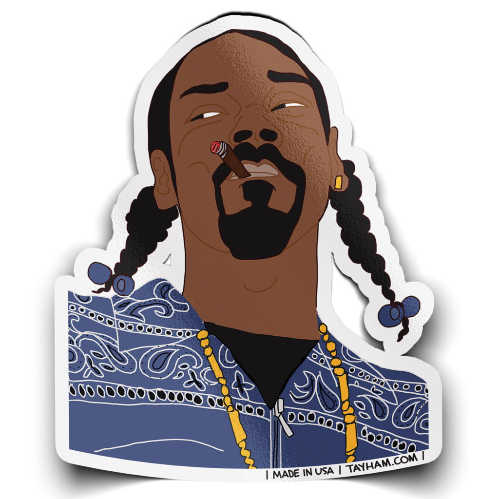 Snoop Dogg Sticker by Tay Ham
