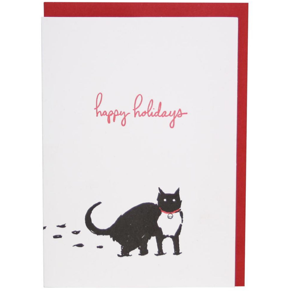 Snow Cat Holiday Card