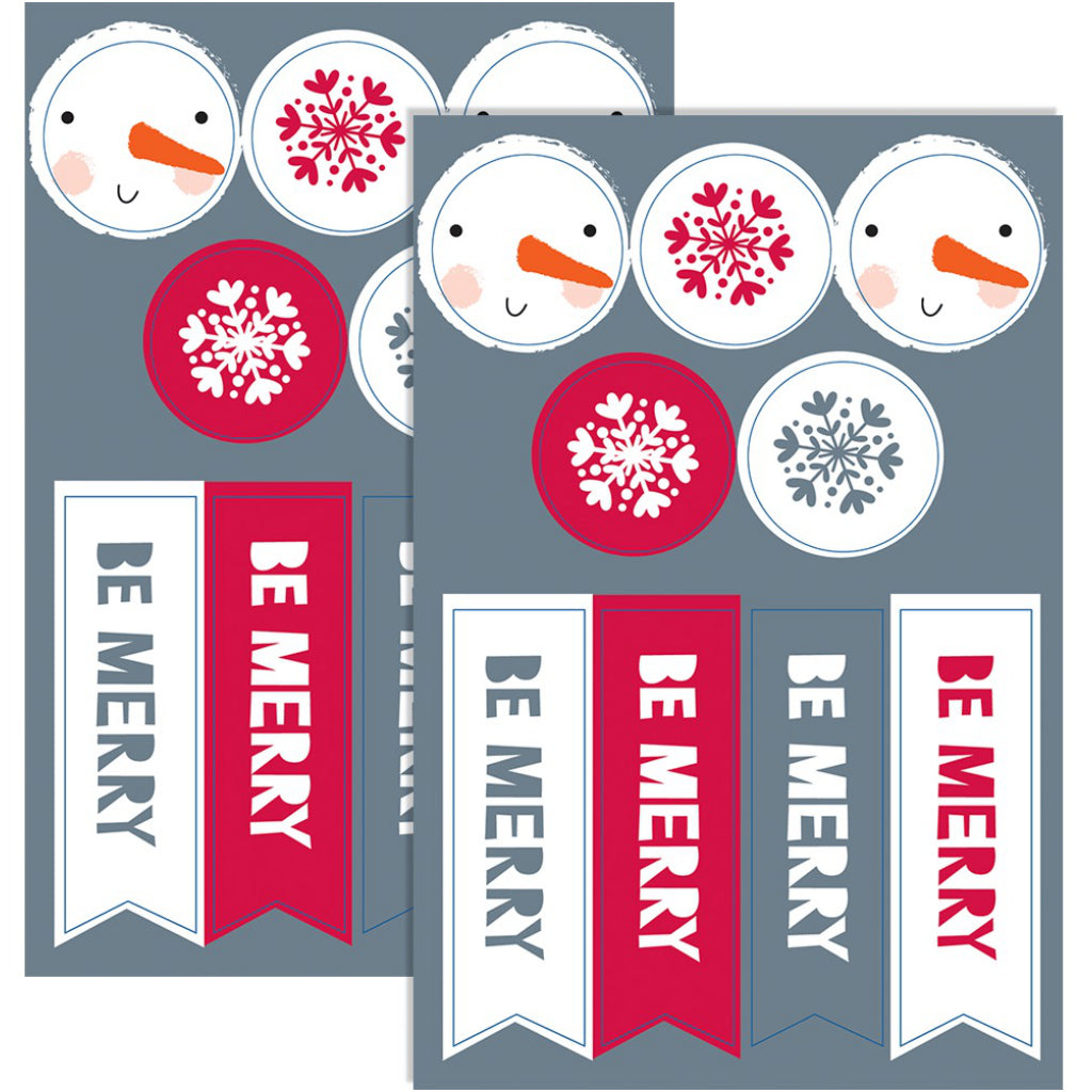 Snowmuch To Celebrate Boxed Christmas Cards Stickers