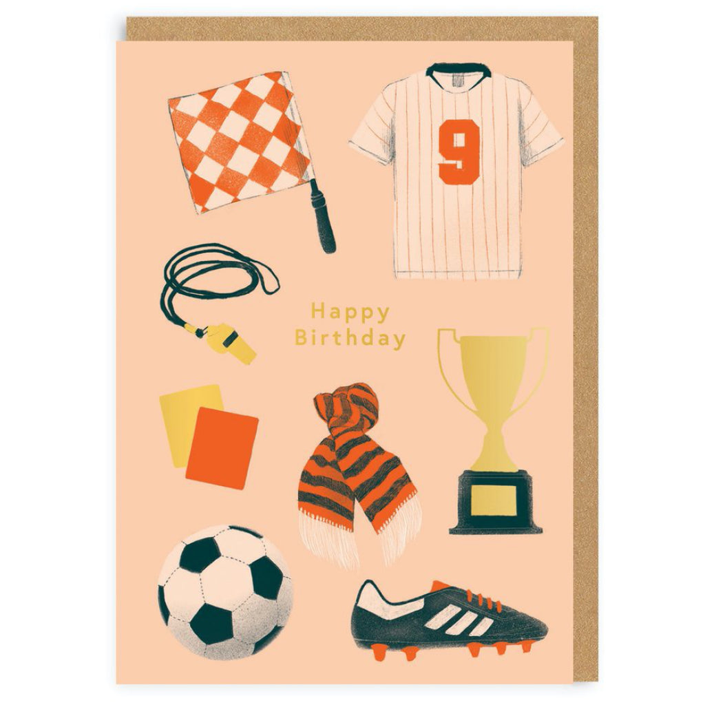 Soccer Stuff Birthday Card