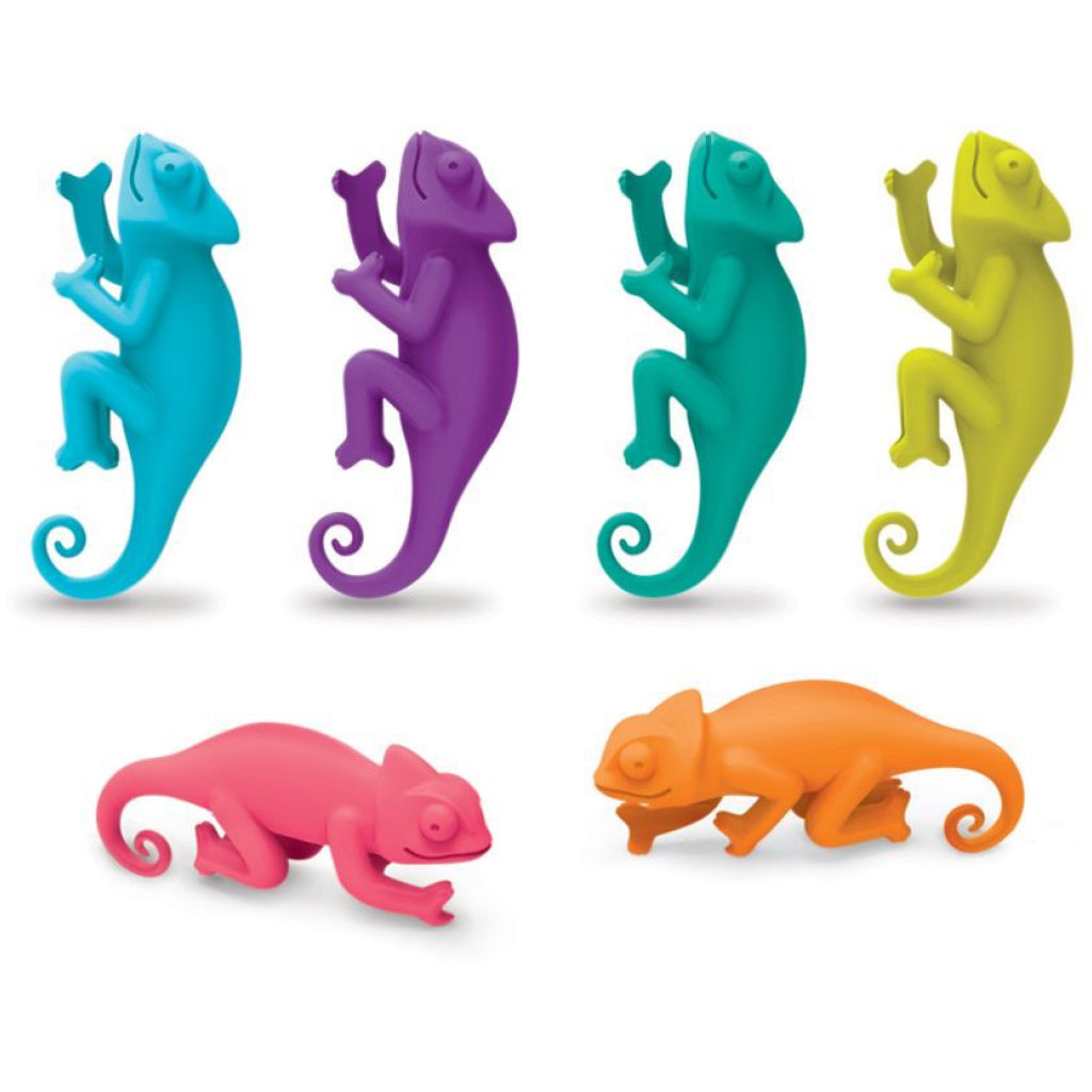 Social Climbers Wine Markers Chameleons