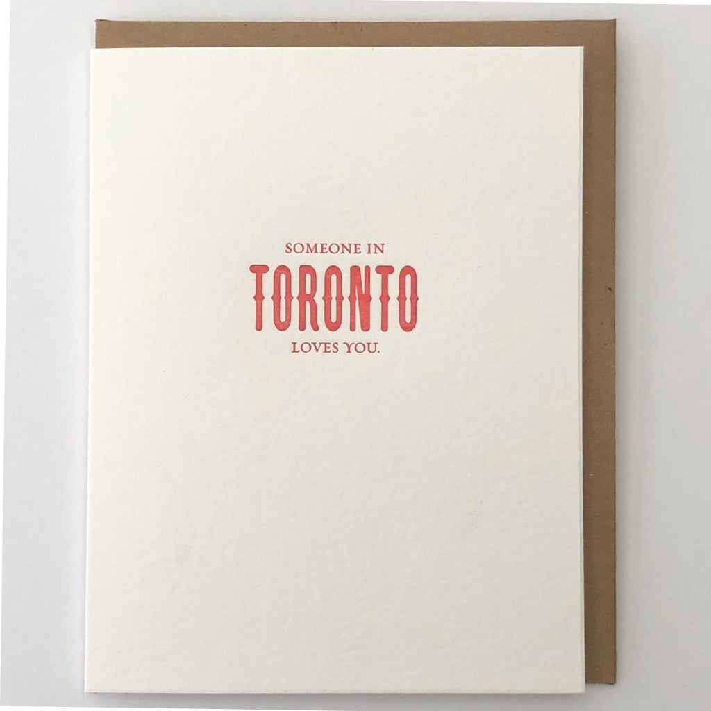 Someone In Toronto Loves You Card