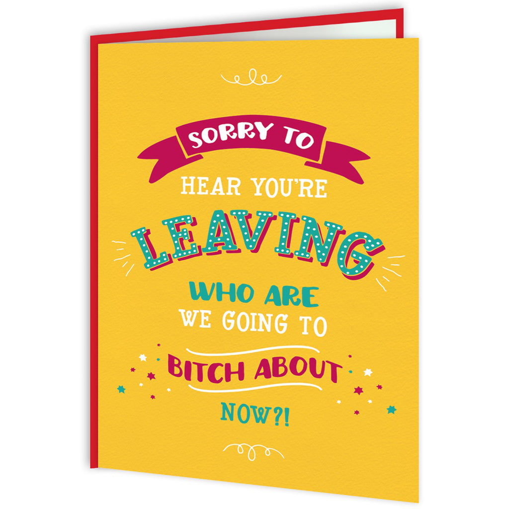 Sorry To Hear You're Leaving Card