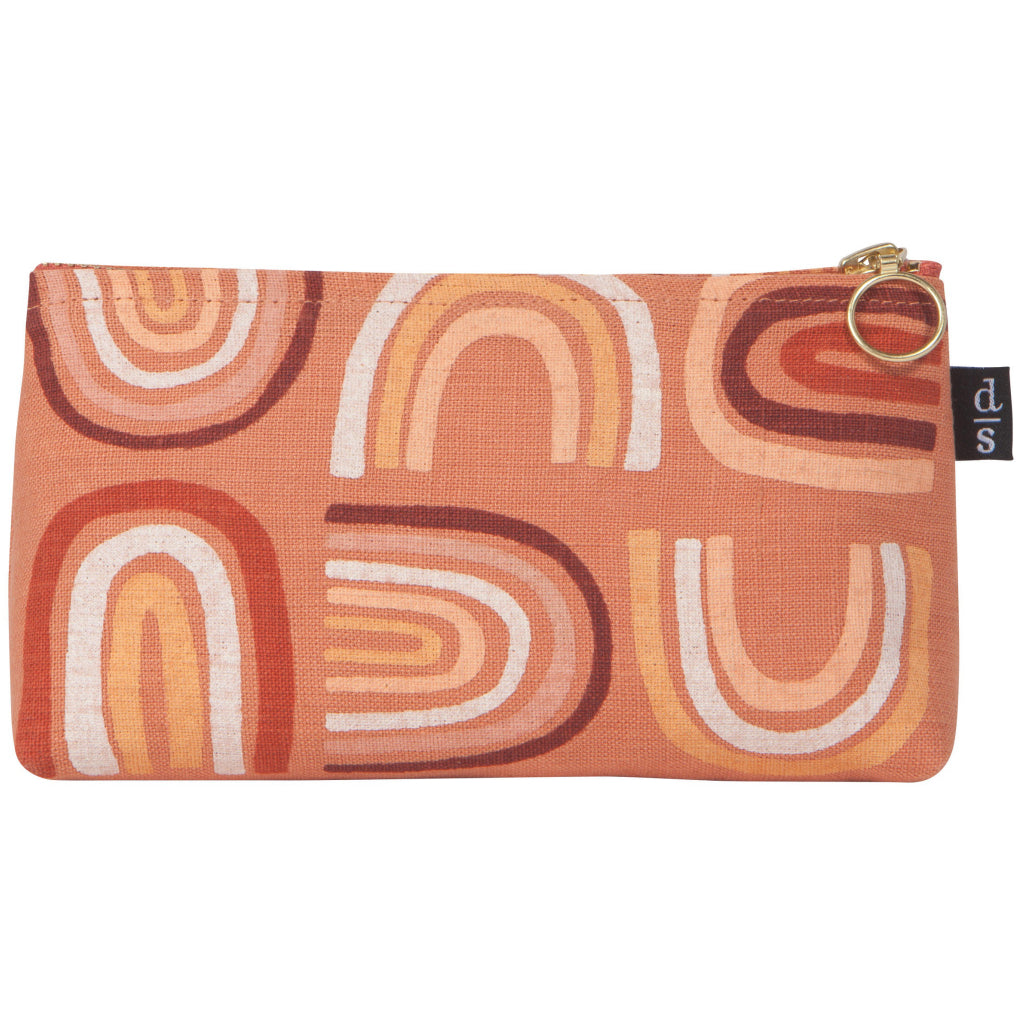 Sosltice Linen Cosmetic Pencil Bag