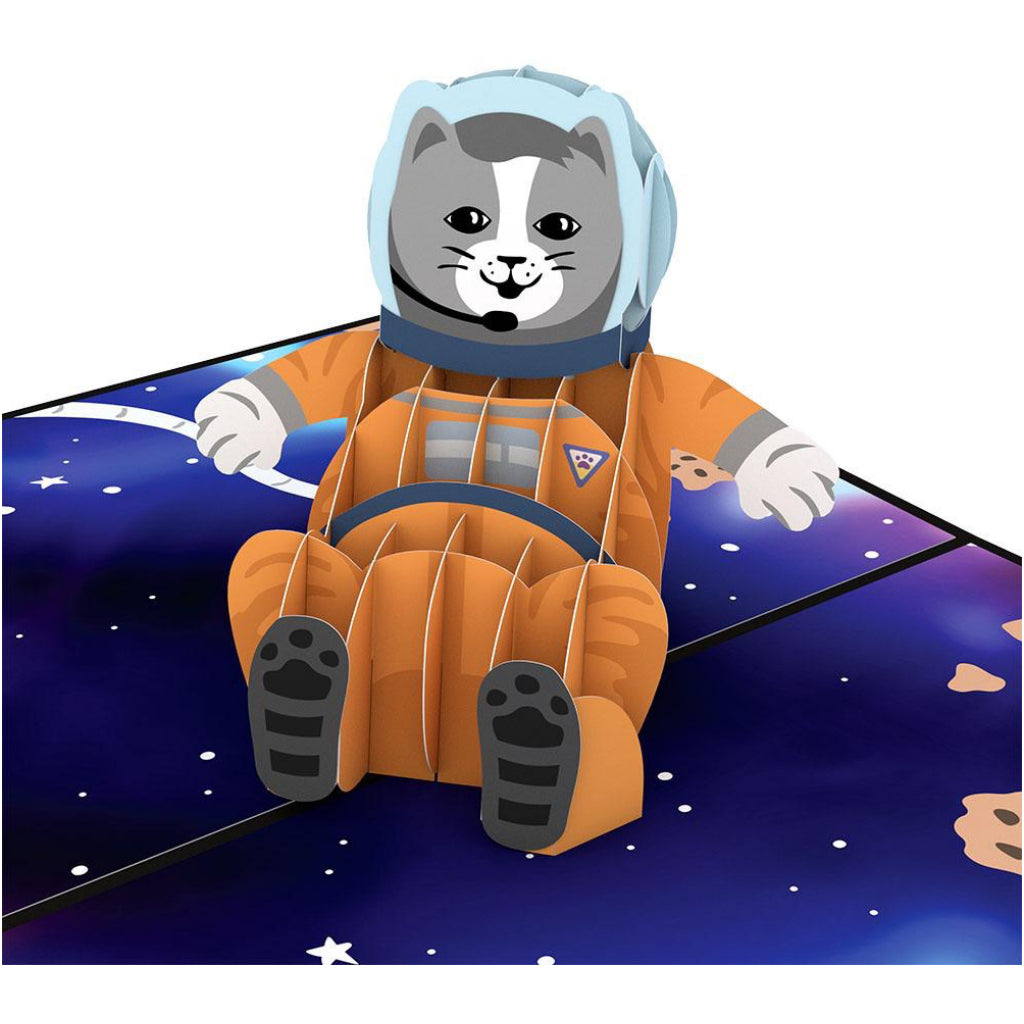 Space Cat 3D Pop Up Card