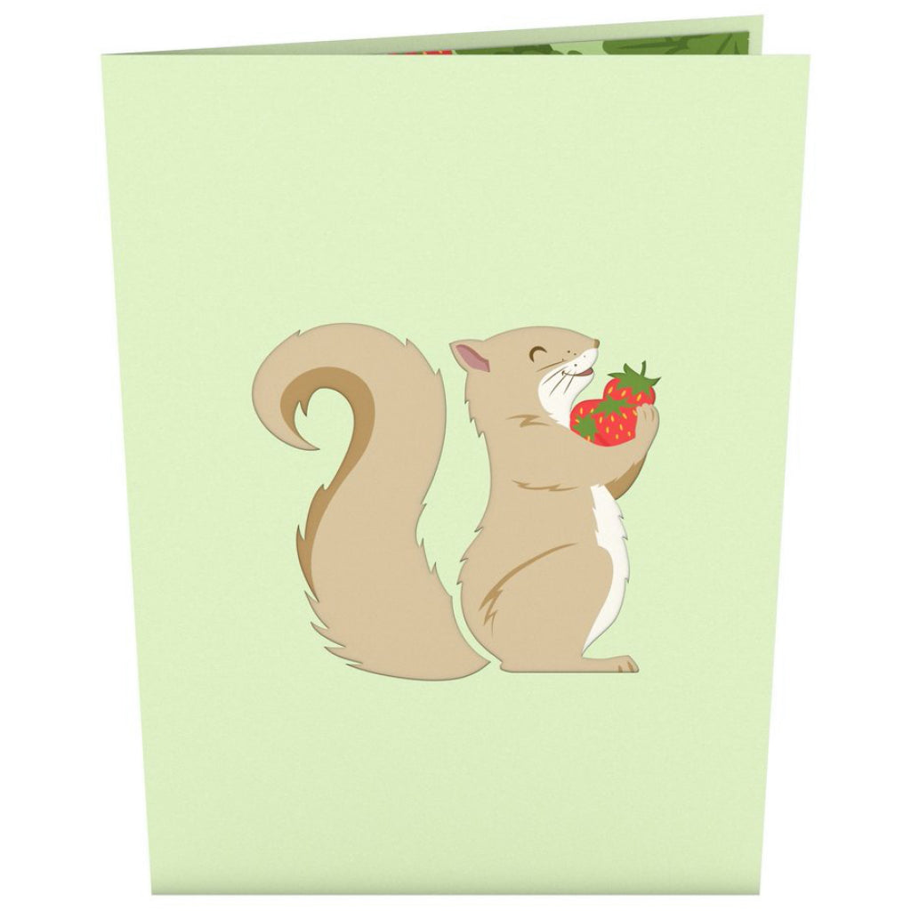 Squirrel 3D Pop Up Card Front