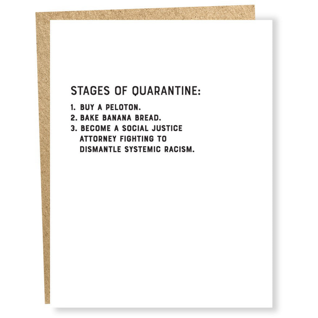 Stages of Quarantine Card
