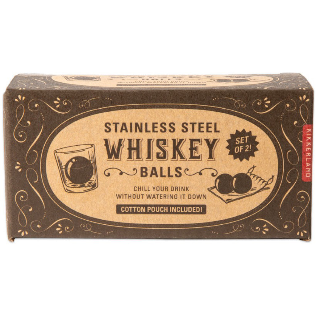 Stainless Steel Whiskey Balls In Box