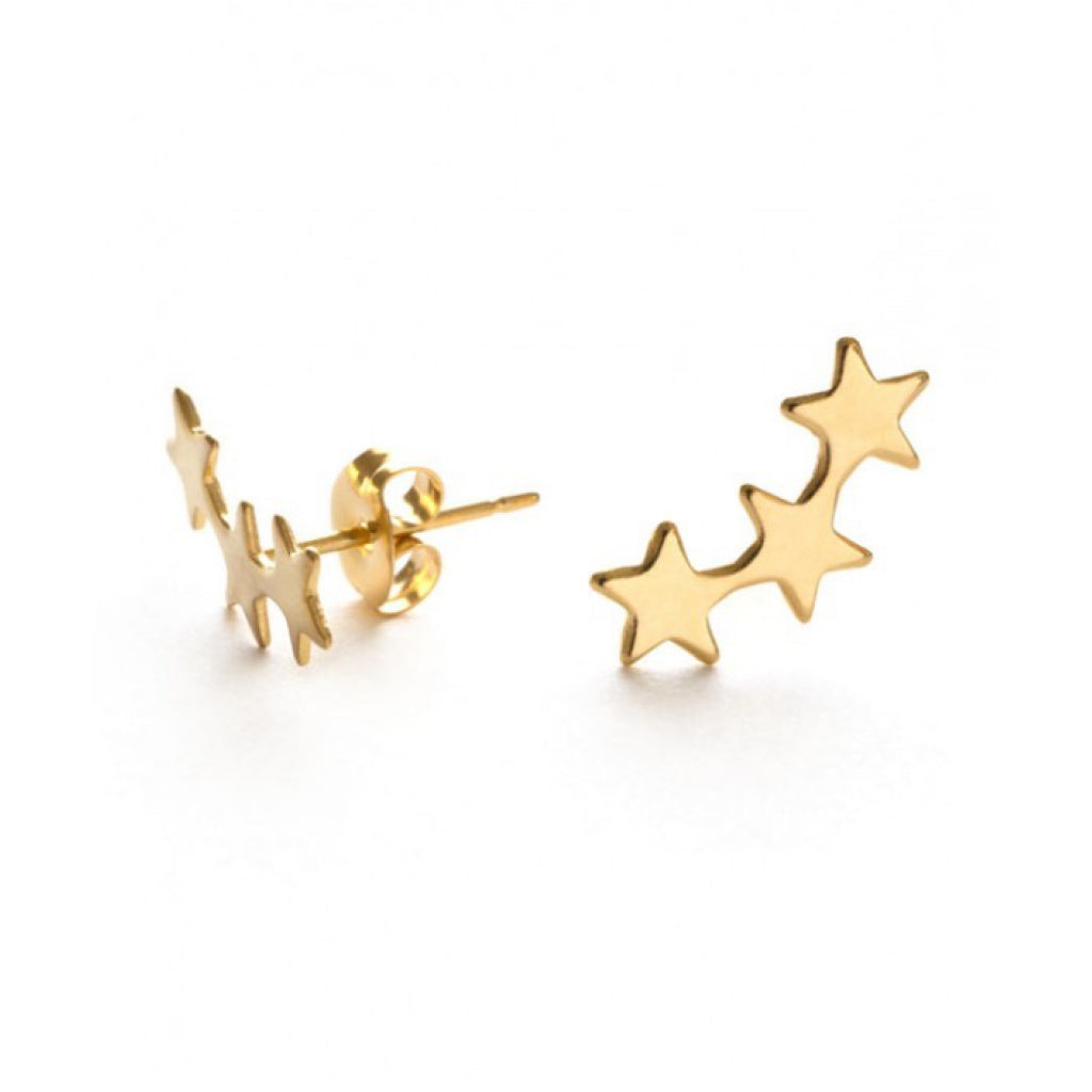 Closeup of Star Cluster Studs Gold.
