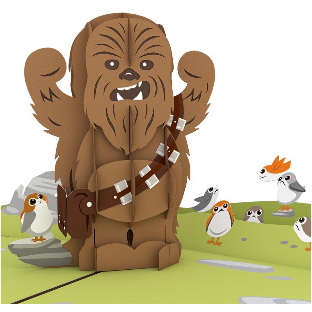 Star Wars Chewbacca 3D Pop Up Card