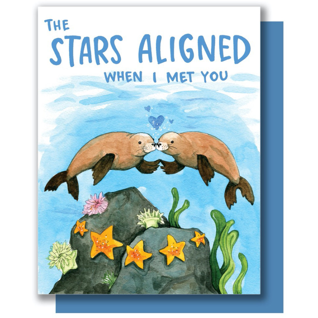 Stars Aligned Seals Card