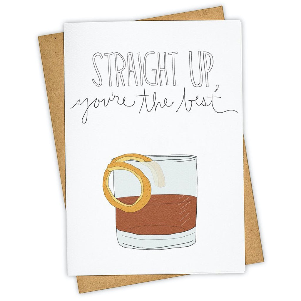 Straight Up Drink Card