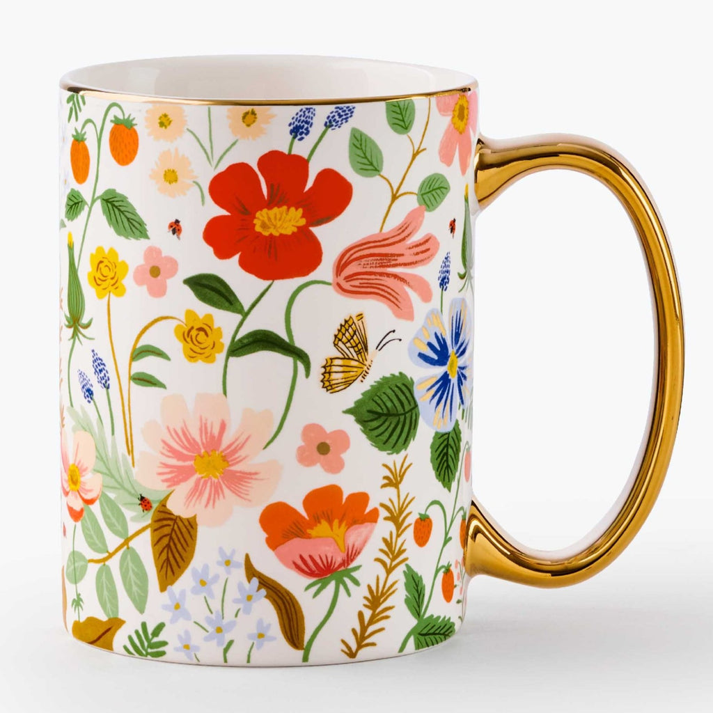 Strawberry Fields Porcelain Mug Back