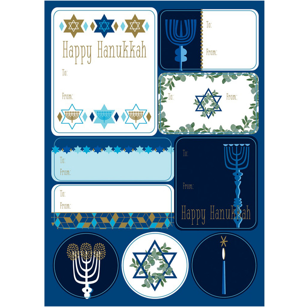 Stuck On Hanukkah Label Sheets