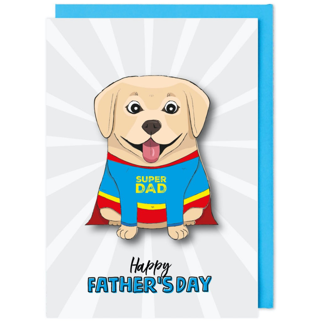 Super Dog Father's Day Card