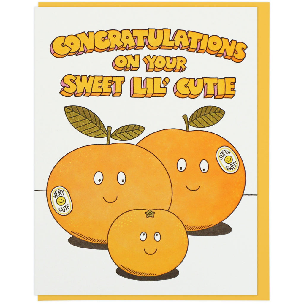 Sweet Lil' Cutie Oranges Card