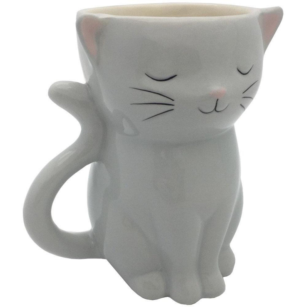 Side view of Cat Planter Pot.