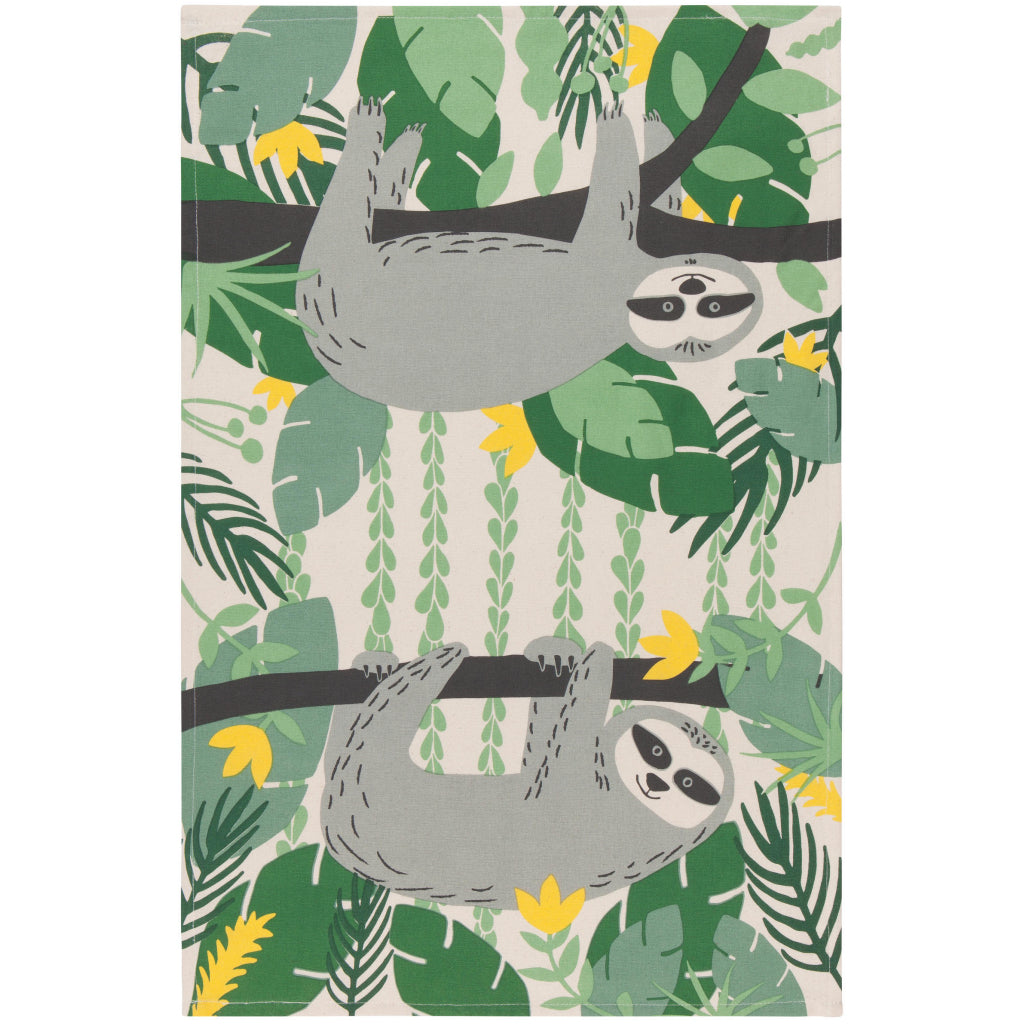 Sybil Sloth Tea Towel