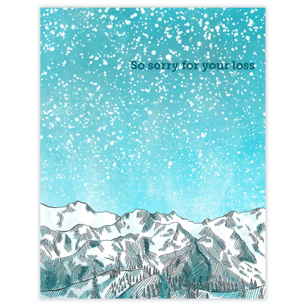 Sympathy Mountains Card