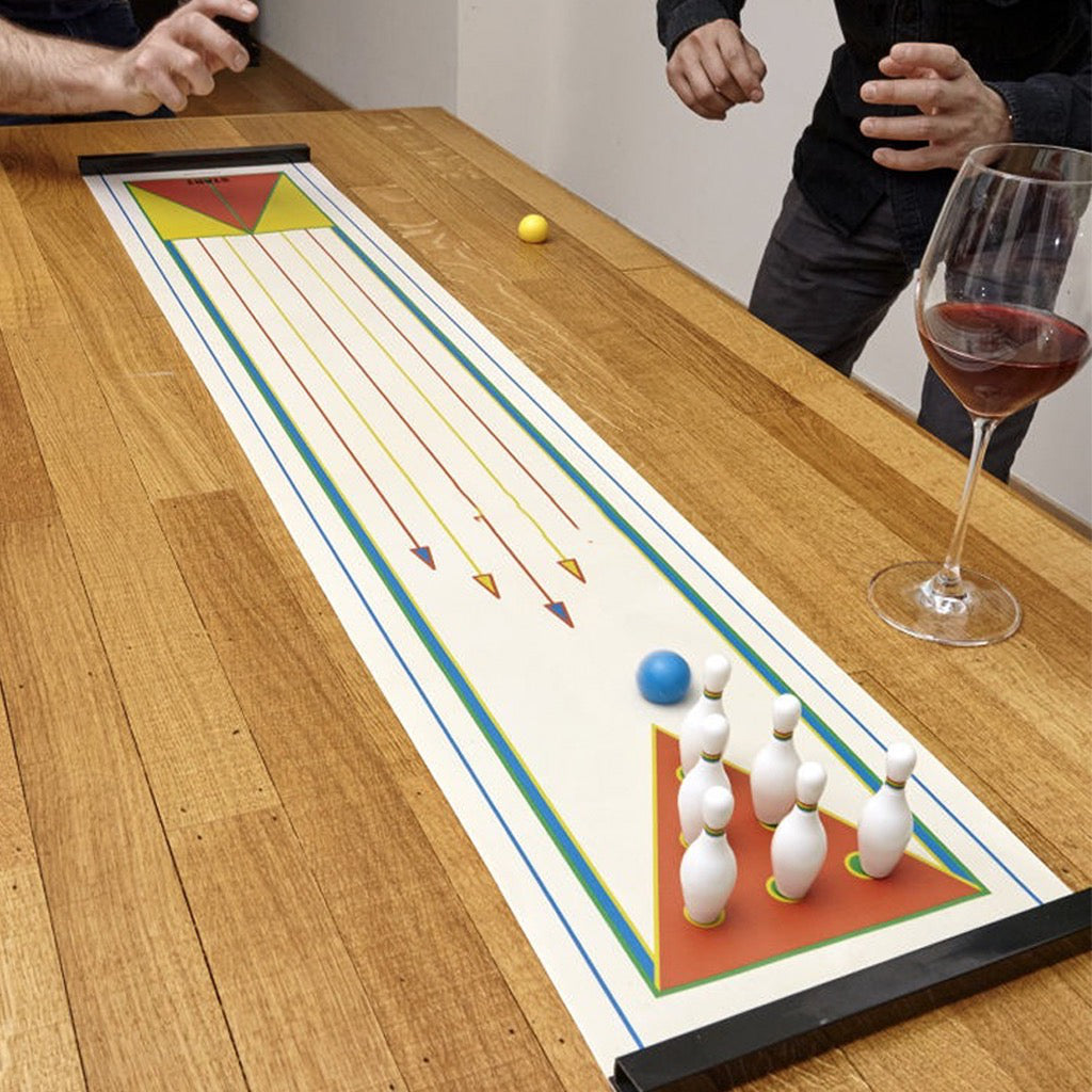 Tabletop Bowling In Use