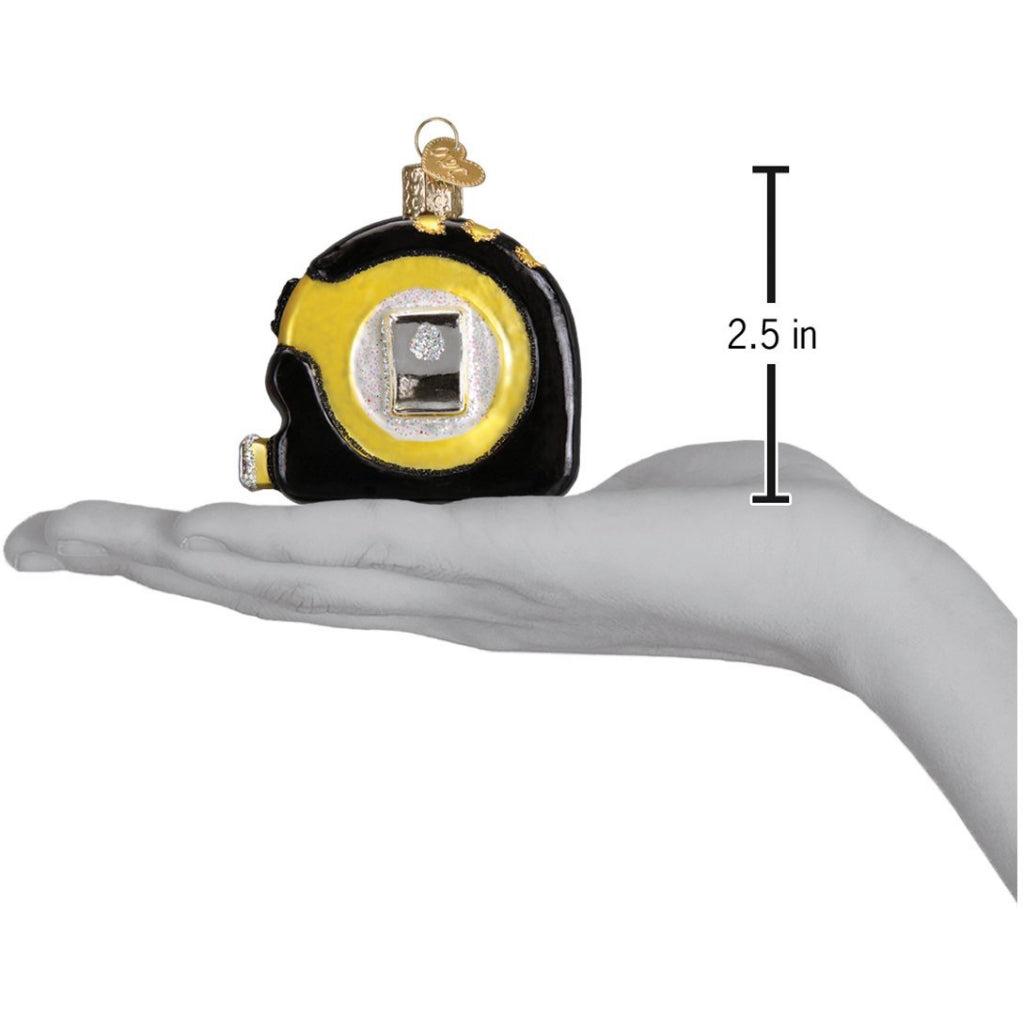 Size of Tape Measure Ornament.