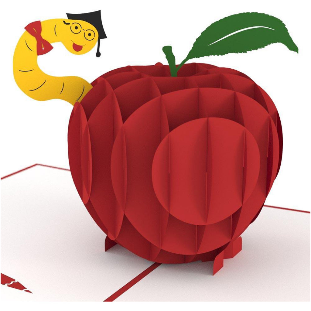 Teacher's Apple 3D Pop Up Card.