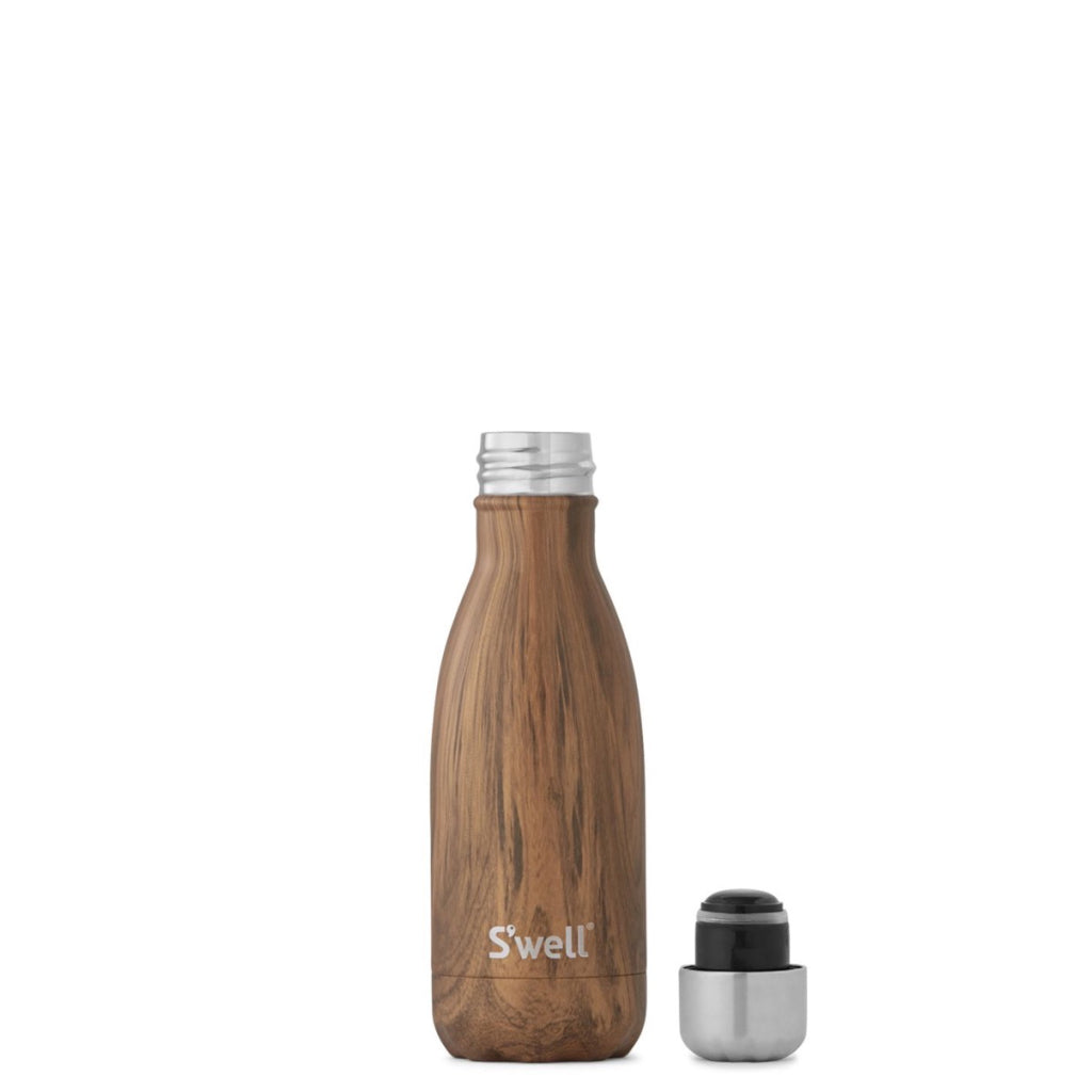 Teakwood Water Bottle 9oz 265ml lid