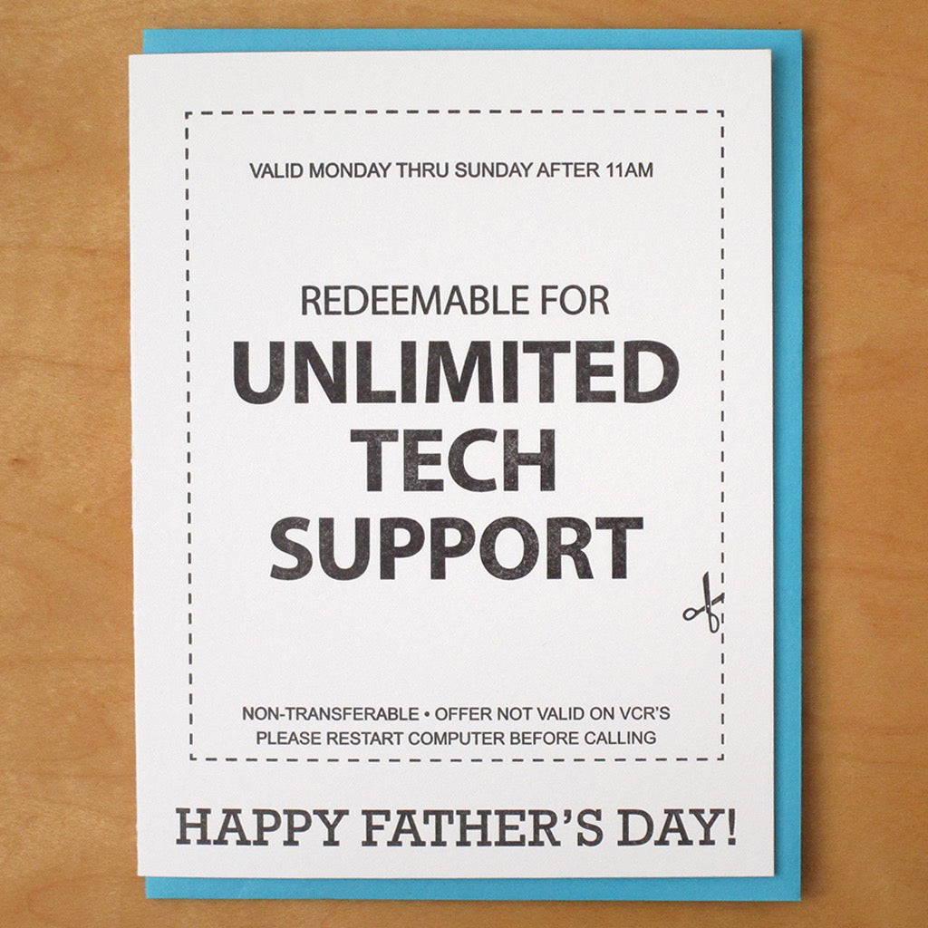 Tech Support Dad Card