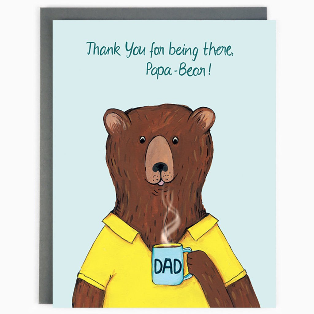 Thank You Papa Bear Card