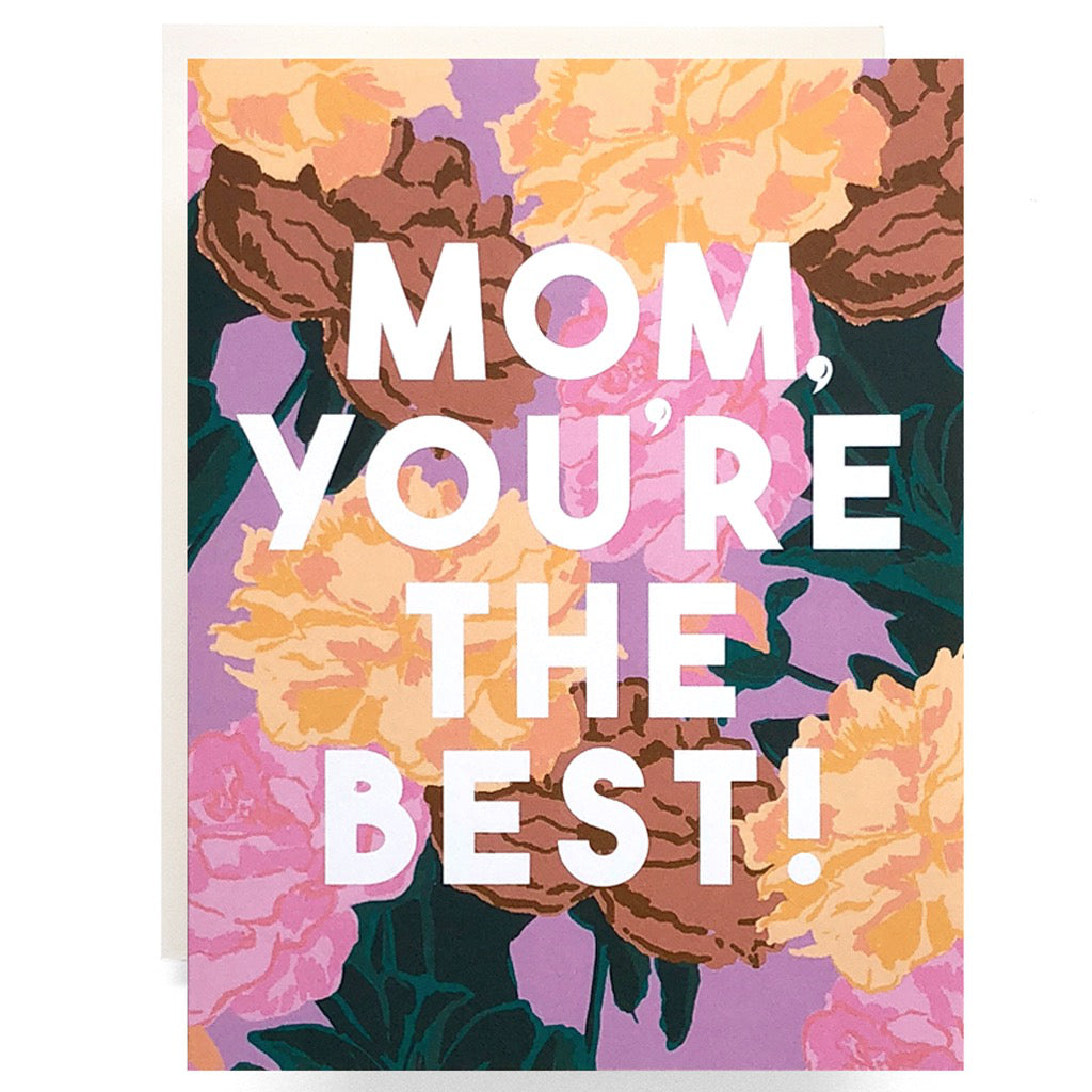 The Best Mom Roses Card