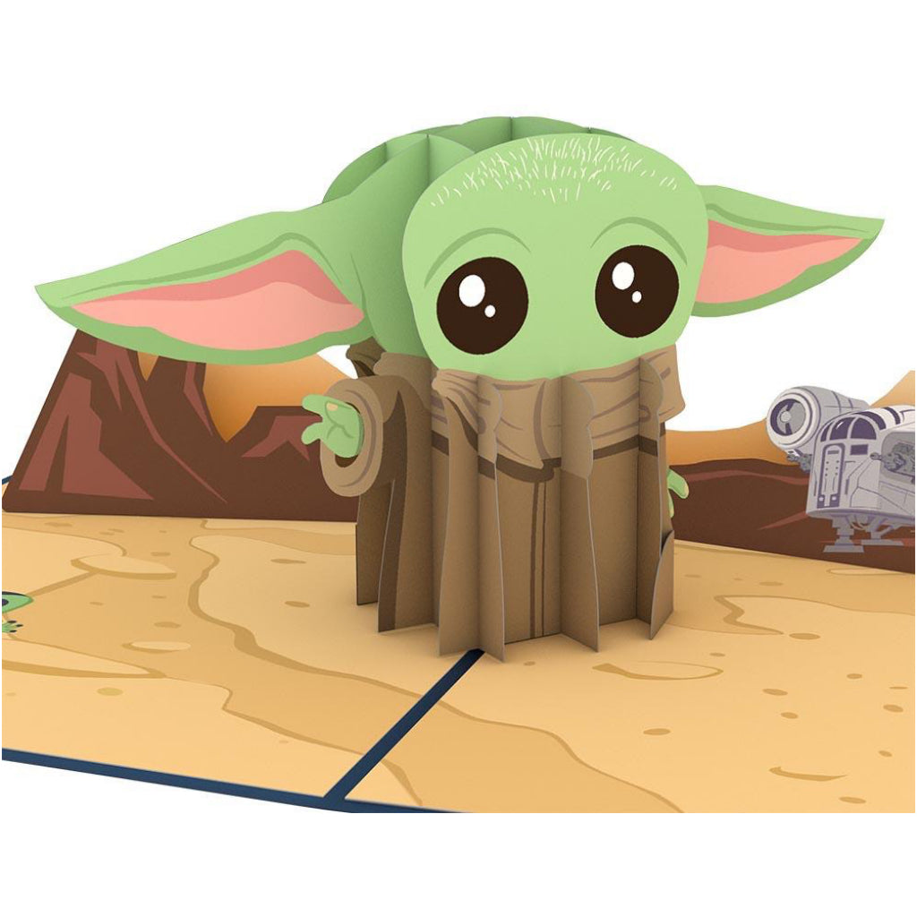 The Mandalorian Baby Yoda 3D Pop Up Card
