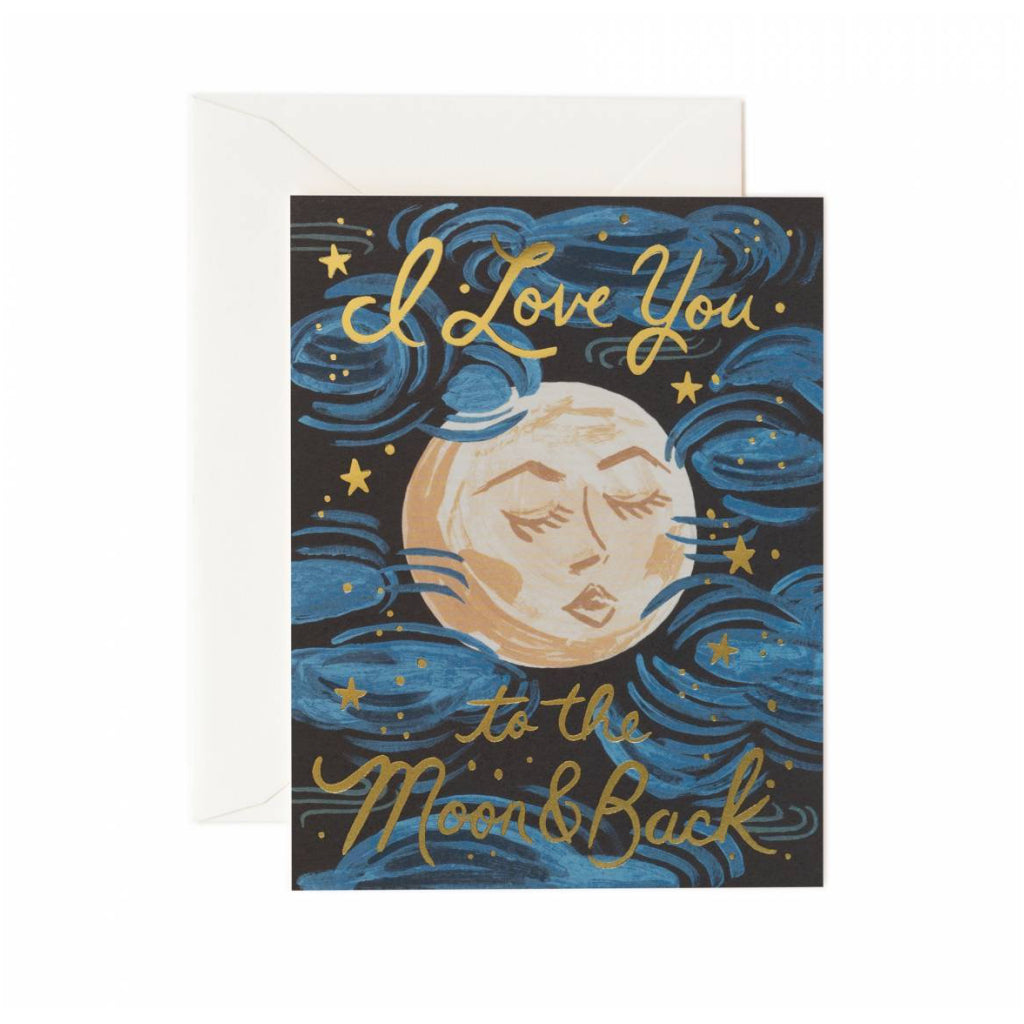 The Moon And Back Card