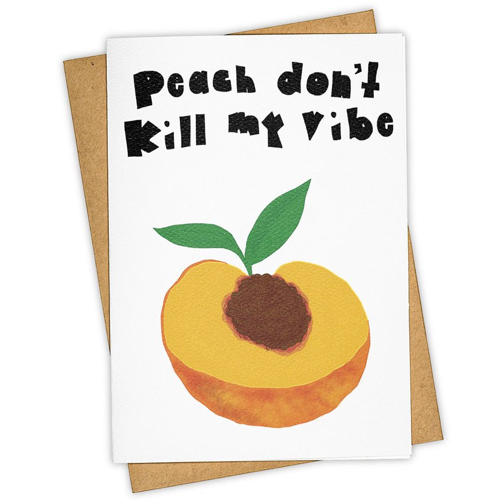 The Pits Peach Greeting Card