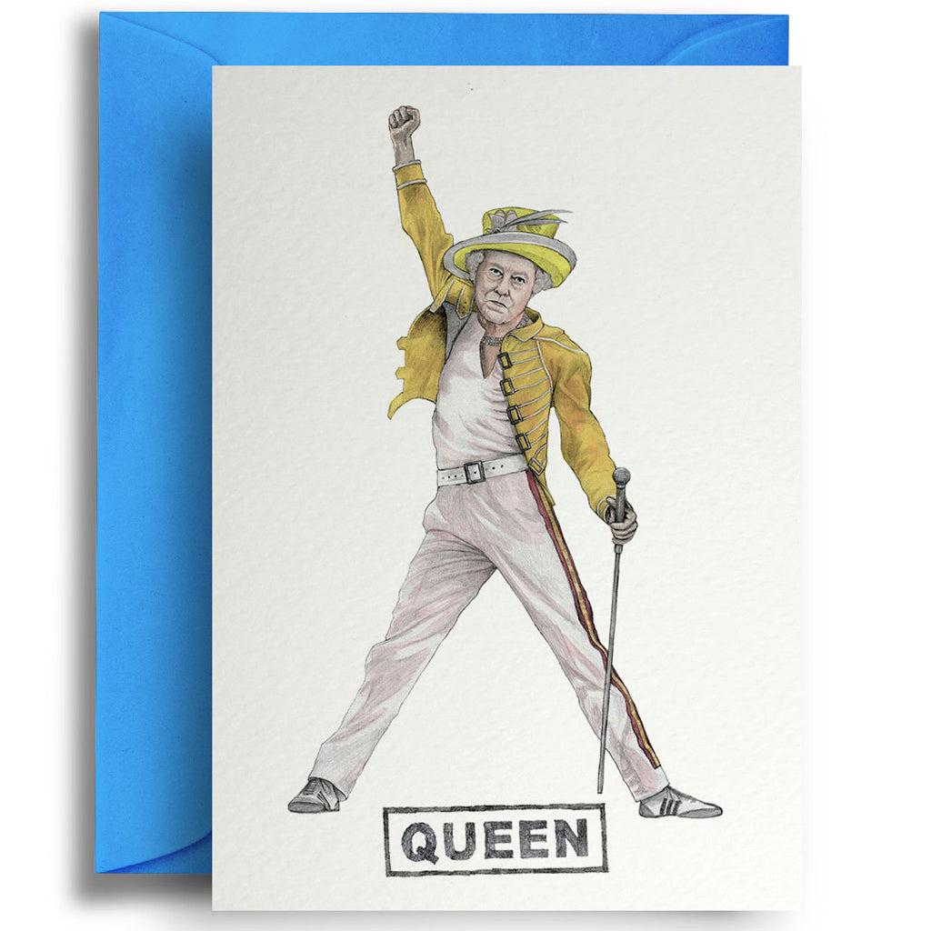 The Queen Freddie Mercury Card