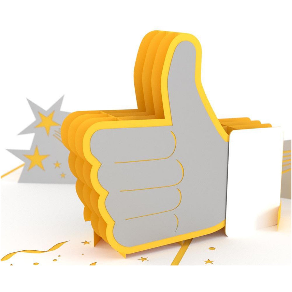 Thumbs Up 3D Pop Up Card