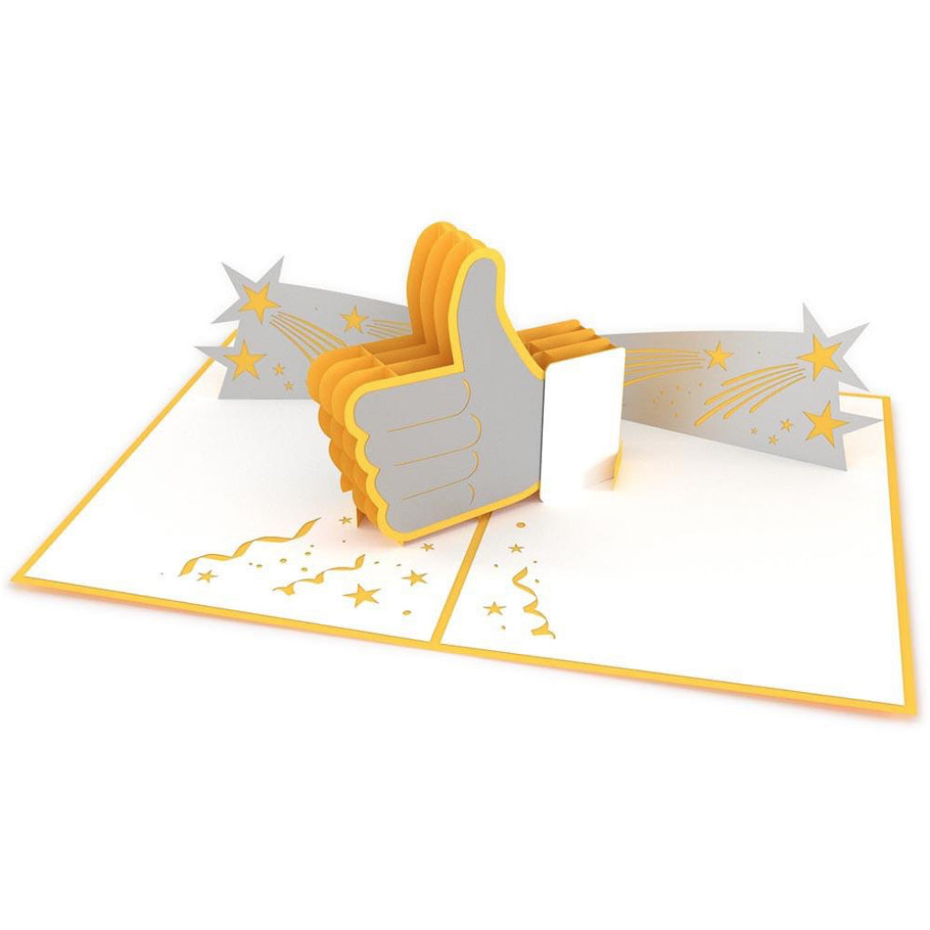 Thumbs Up 3D Pop Up Card Open