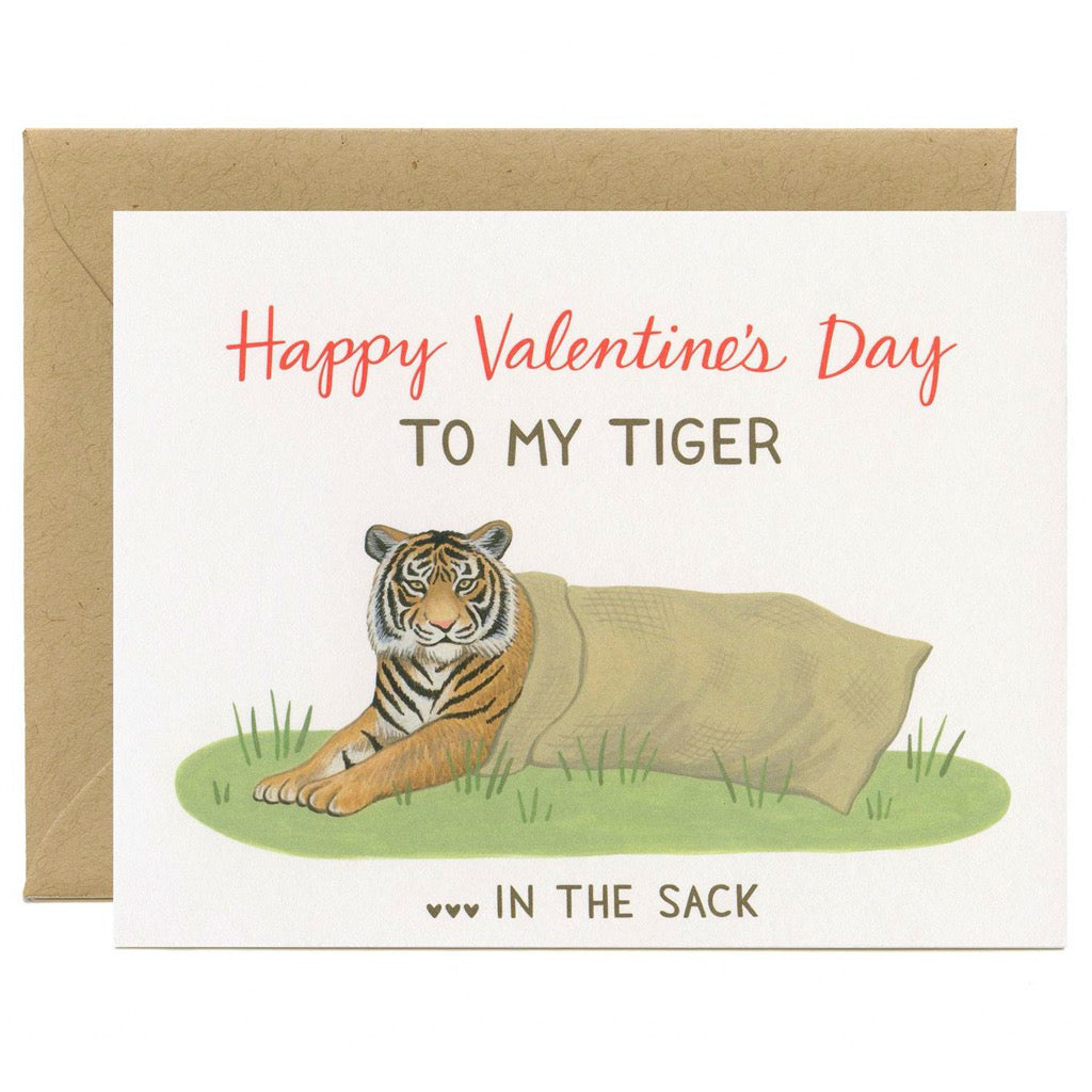 Tiger In The Sack Card