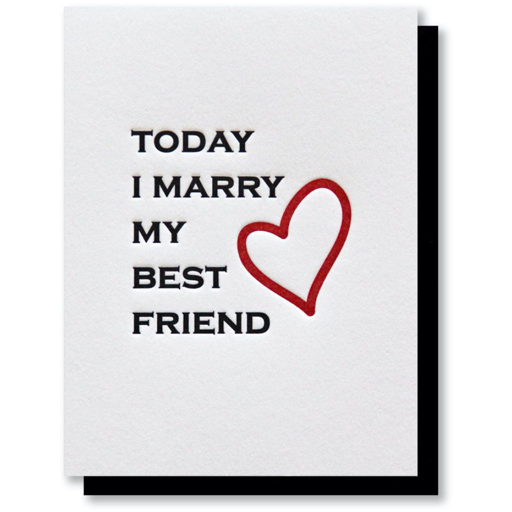 Today I Marry My Best Friend Card